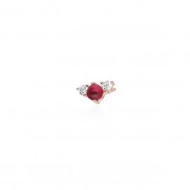"Monorecchino color rubino ""Mabina"""