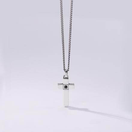 Collana in oro bianco 18kt e zirconi bianchi
