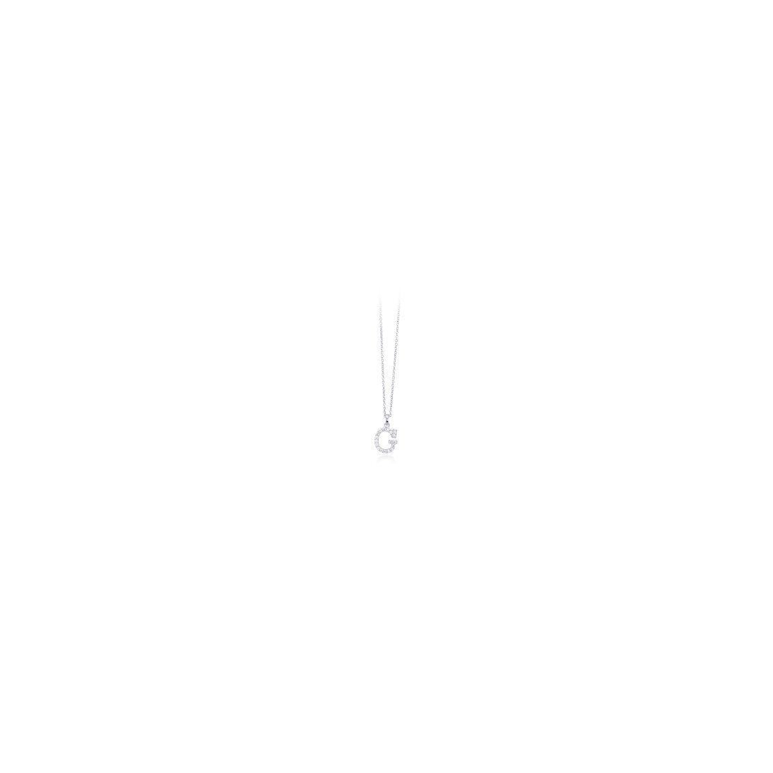 Mabina 553168G collana iniziali argento con zirconi bianchi
